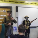 Cpl Stewart Cook  as Private Tommy Atkins, telling the story of WW1 and life in the trenches