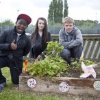 WOW Zone Students at the launch of their Global Garden